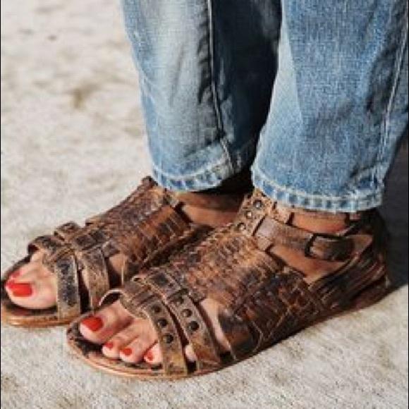26dcf830e043f Bed Stu Shoes - Bed Stu Claire Huarache Leather Sandal Black Lux